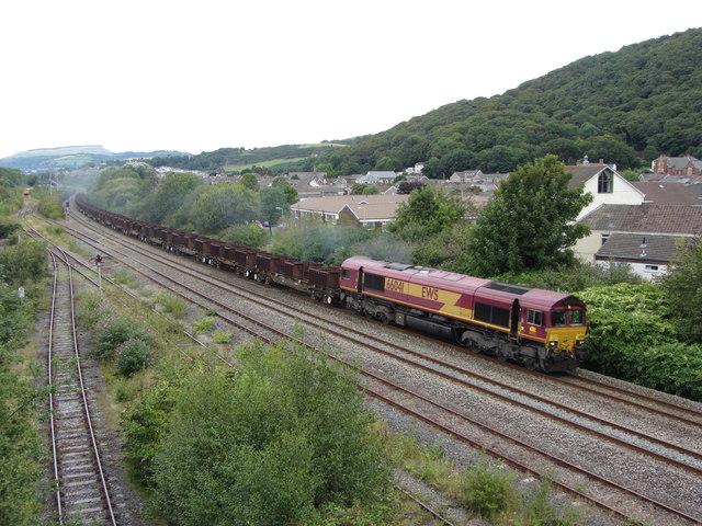 Freight train near Briton Ferry
