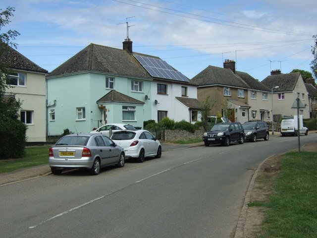 Houses on Wood Road, King's Cliffe