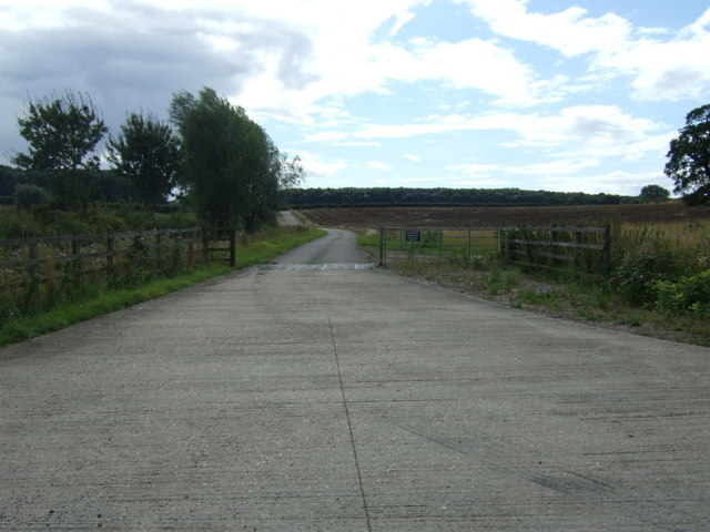 Farm track off King's Cliffe Road