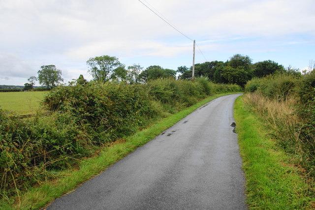 Lane near Wanfield Hall