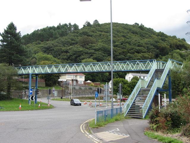 Footbridge near Briton Ferry