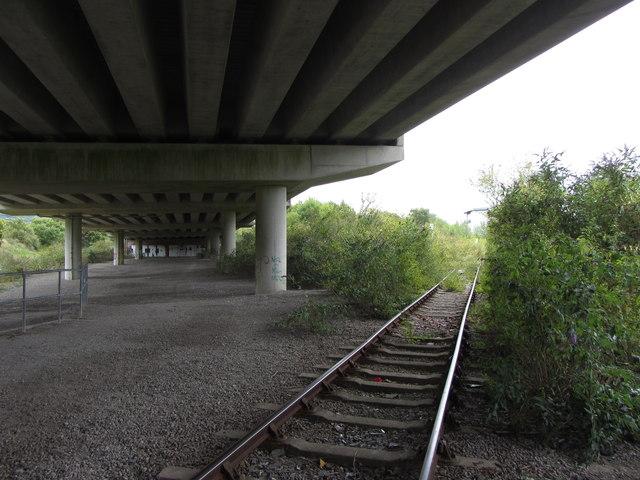 Under the M4 near Briton Ferry
