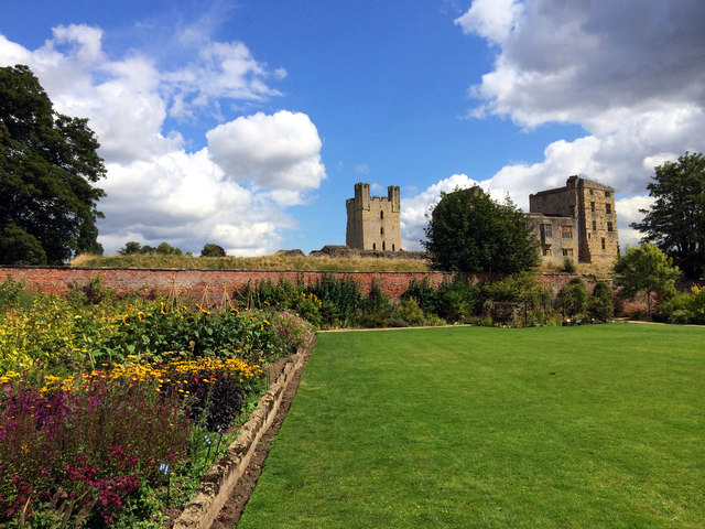 Helmsley Castle from The Walled Garden