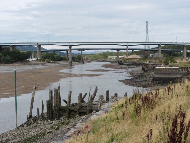 View up the River Neath from Briton Ferry