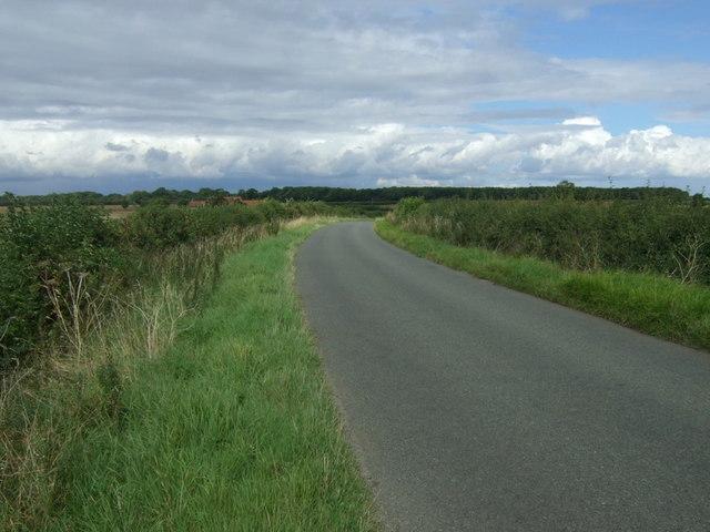 Rural road towards Nassington