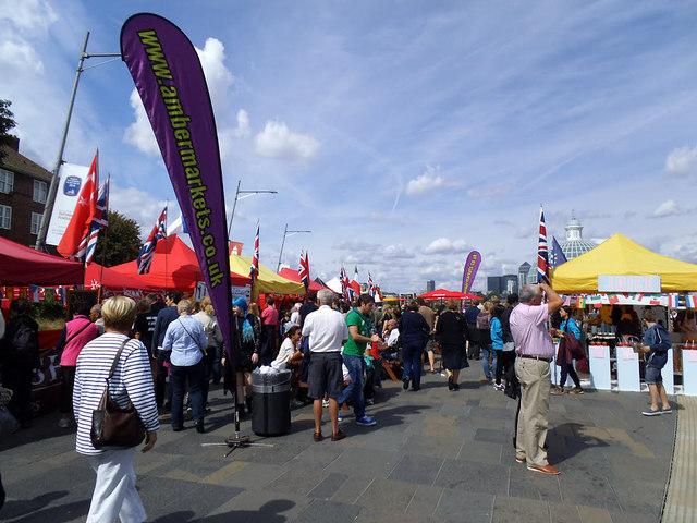 Food stalls on Cutty Sark Gardens