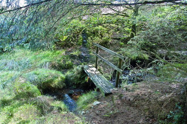 The old footbridge over Brownslow Brook