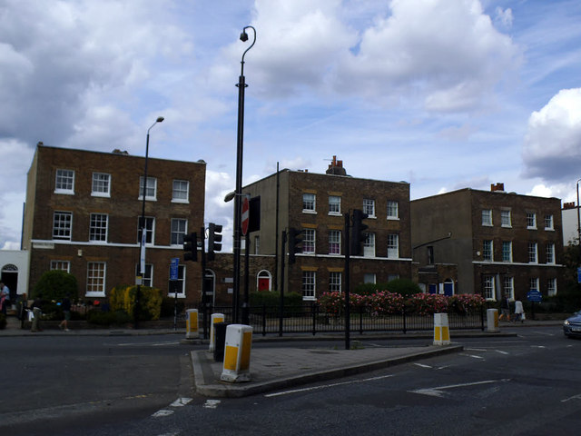 Listed houses on Greenwich High Road