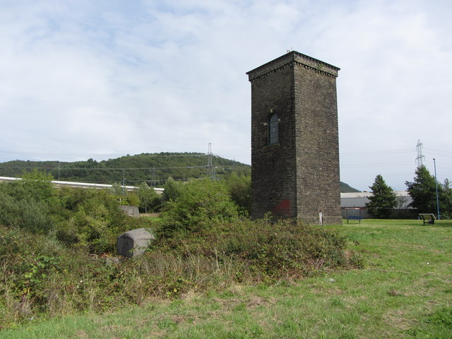 Brunel's tower at the floating dock, Briton Ferry