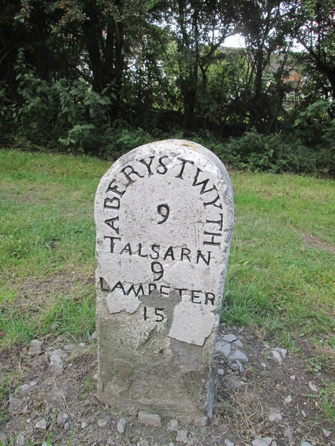 Mile Stone - Aberystwyth 9