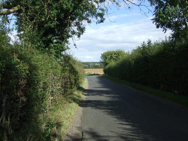 Minor road towards Elton