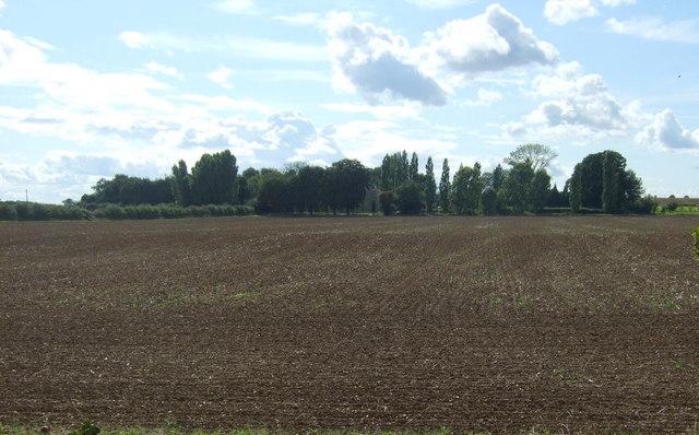 Farmland towards Fotheringhay Lodge