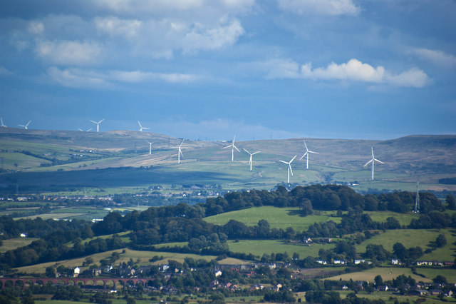 A  distant windfarm