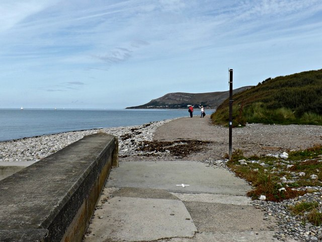 The start of the partly restored coastal path