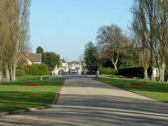 Main drive, Morden Cemetery