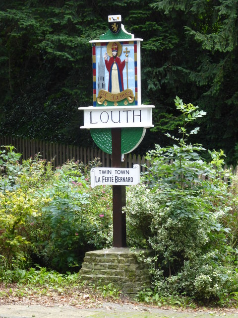 Louth town sign