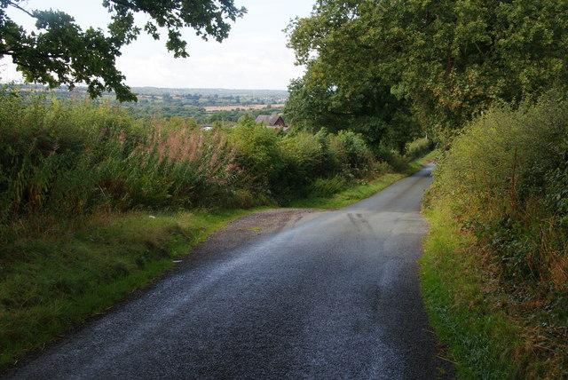 Road on Aldery Bank