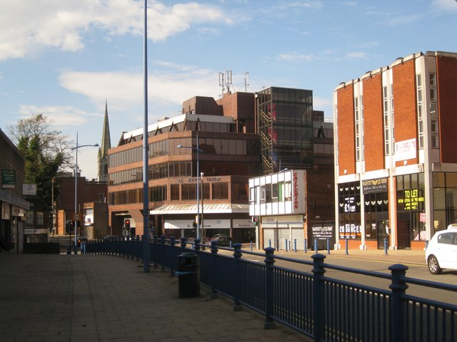 West on King Street, Dudley town centre