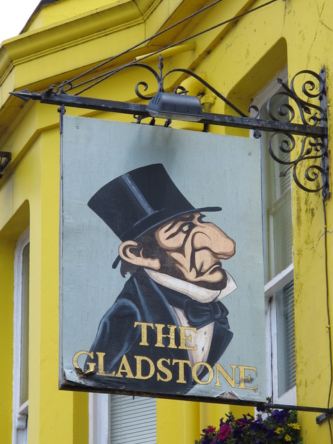Sign for The Gladstone, Lewes Road / Gladstone Place, BN2