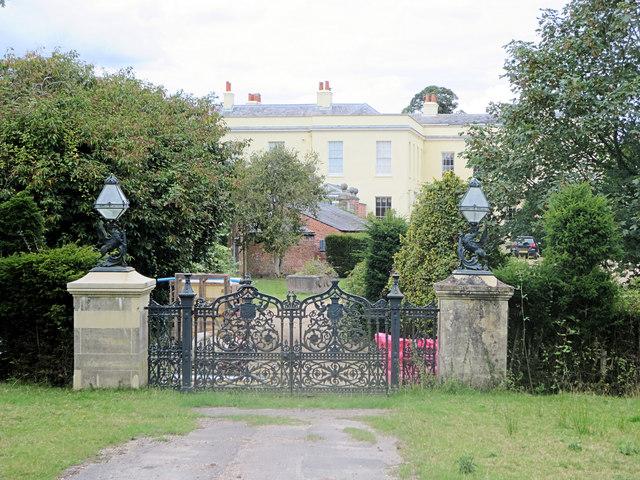 Hamstead Lodge and entrance gates