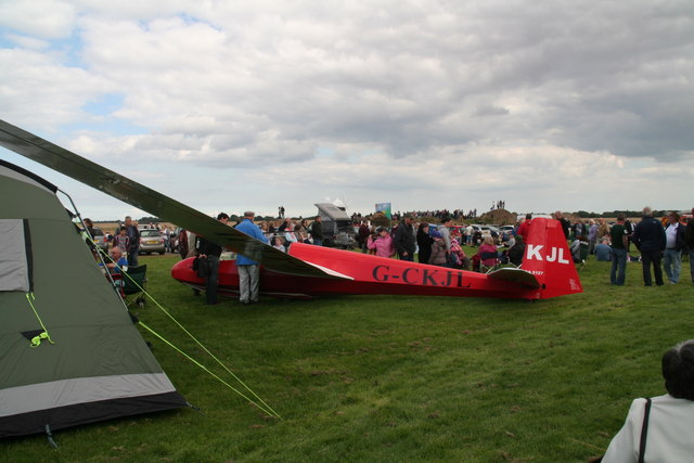 Glider on display: Strubby Memorial Dedication Ceremony