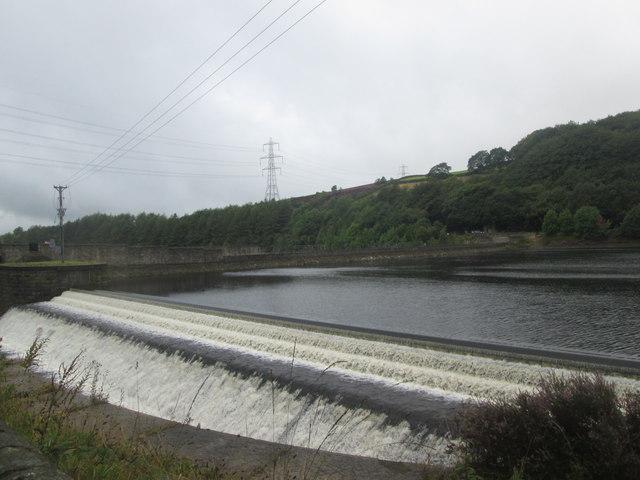 Spillway at Valehouse Dam
