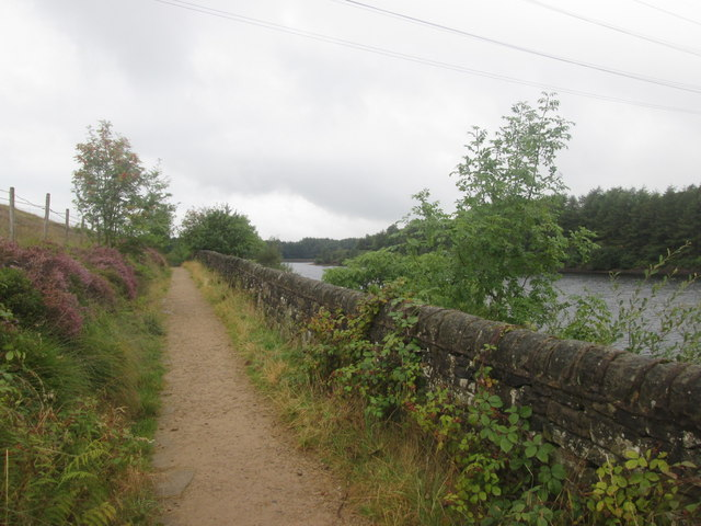 Path beside Bottoms Reservoir
