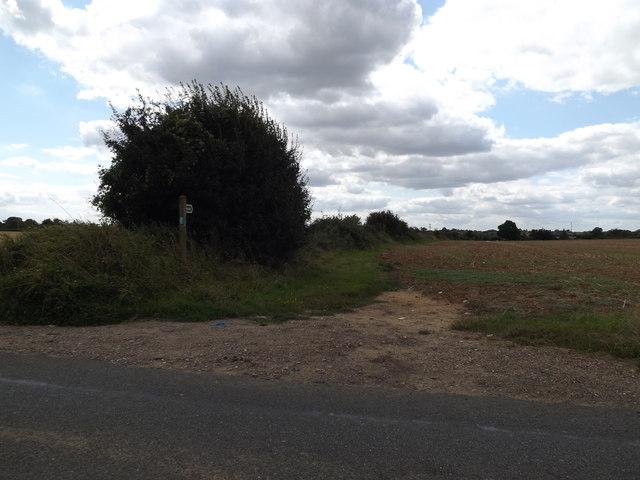 Footpath off the B1070 Hadleigh Road