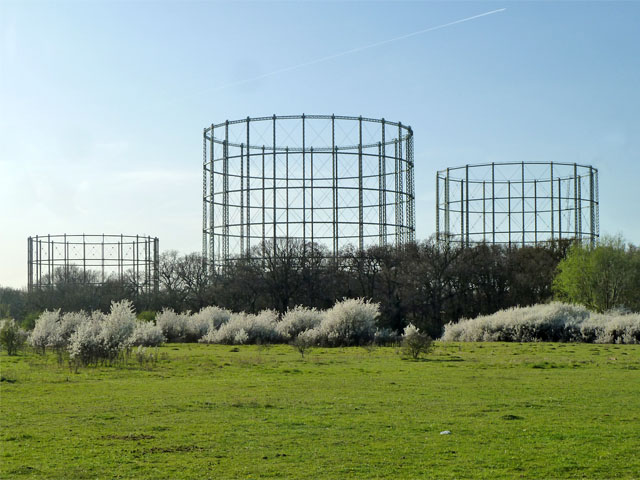 Gas holders, Motspur Park