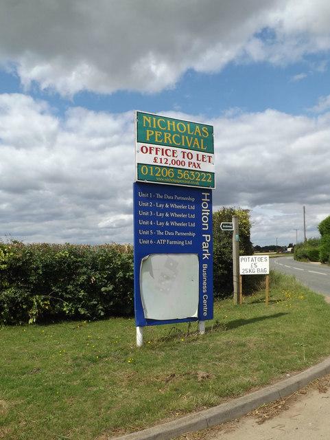 Holton Park Business Centre sign