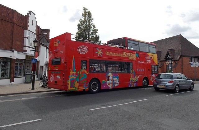 Open-top sightseeing bus, Stratford-upon-Avon