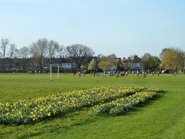 Junior football training, Motspur Park