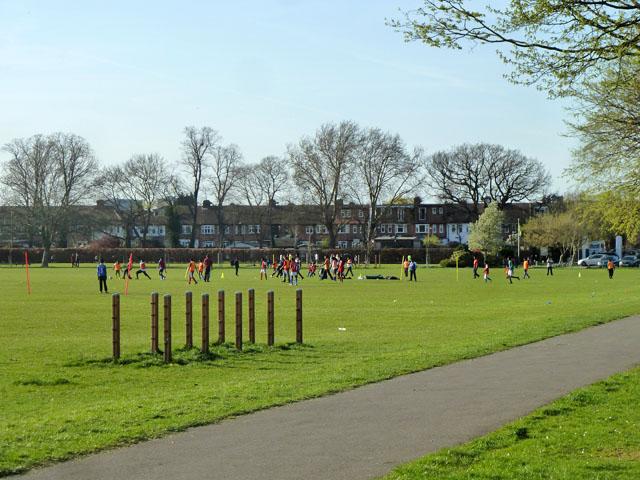Junior football training, Motspur Park