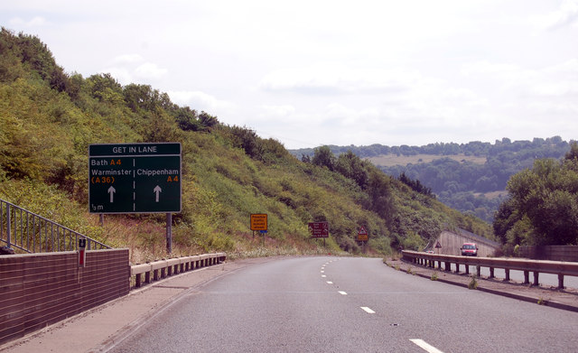 A46 approaching A4 junction
