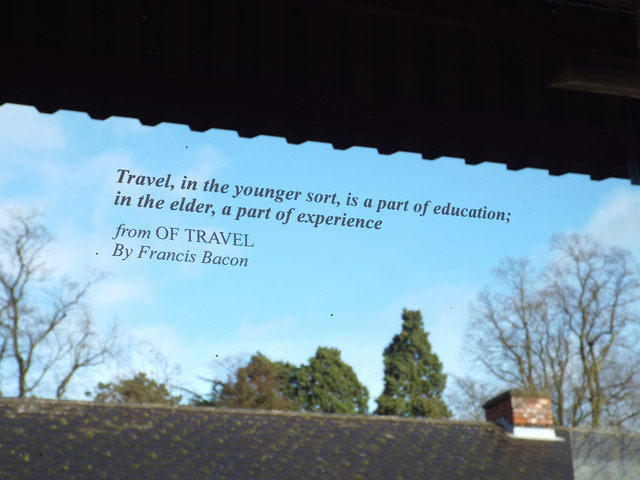 Quotation from Francis Bacon: 'Of Travel'