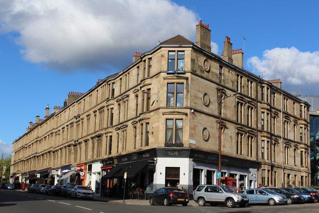 Corner of Byres Road & University Place, Glasgow