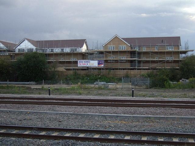 New housing being built near Peterborough Railway Station