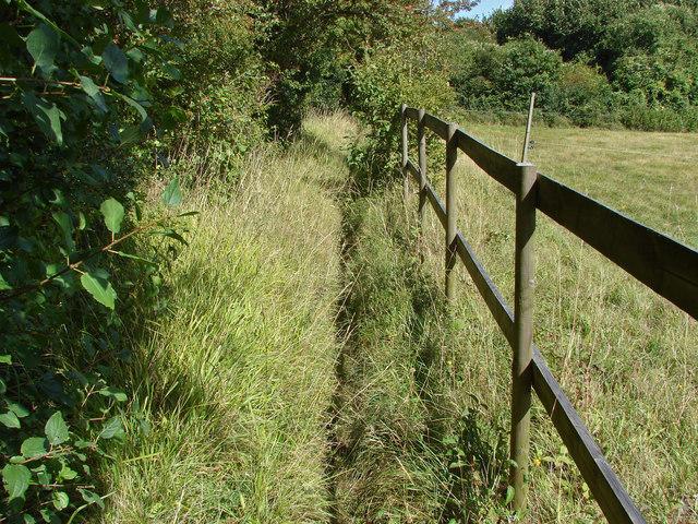 Footpath above Wellhouse Farm