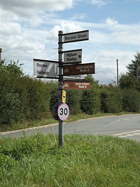Roadsign on the B1070 Hadleigh Road