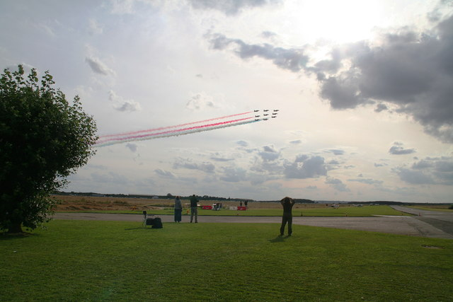 Red Arrows fly-past at Strubby