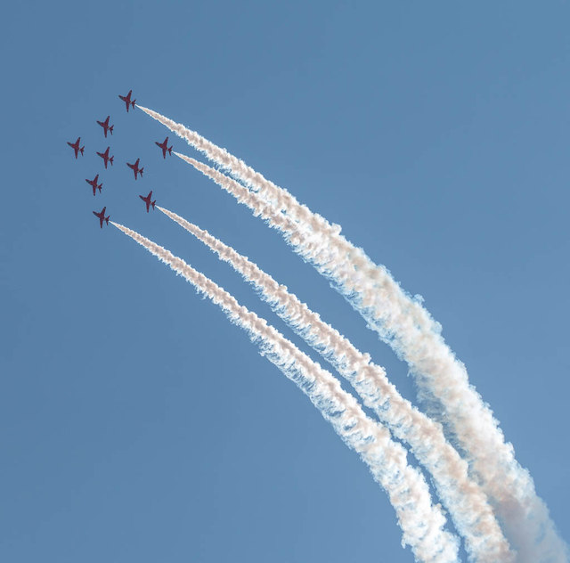 The Red Arrows, Clacton Air Show, Essex