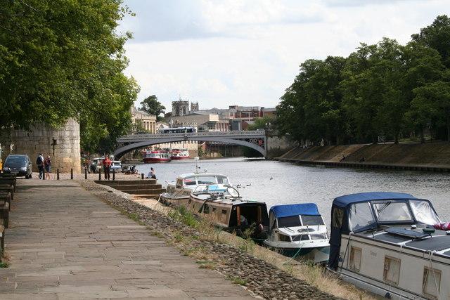 York:  Looking downstream to the Lendal Bridge