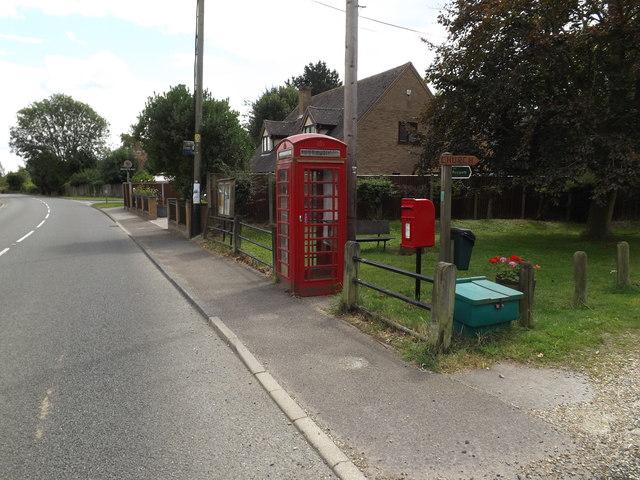 Telephone Box & Holton St.Mary Postbox