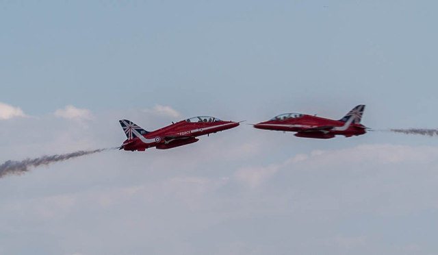 The Red Arrows Crossover, Clacton Air Show, Essex
