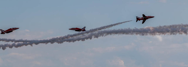 The Red Arrows Fast Pass, Clacton Air Show, Essex