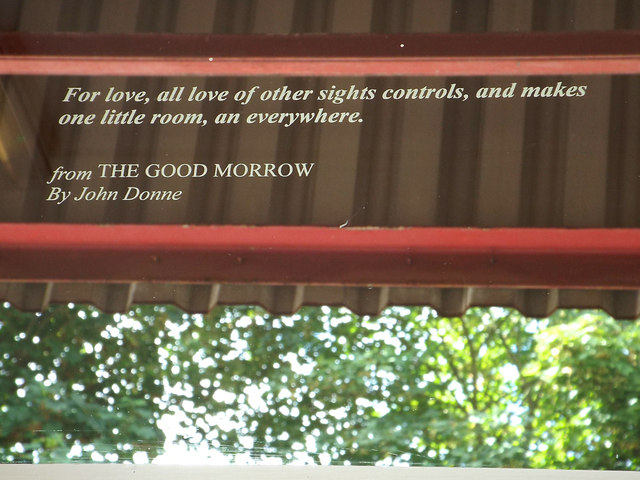 Quotation from John Donne: 'The Good Morrow'