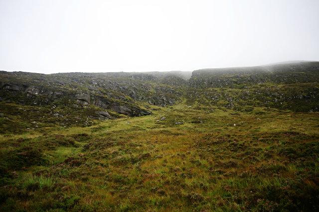 A steep gully of Beinn Bhreac