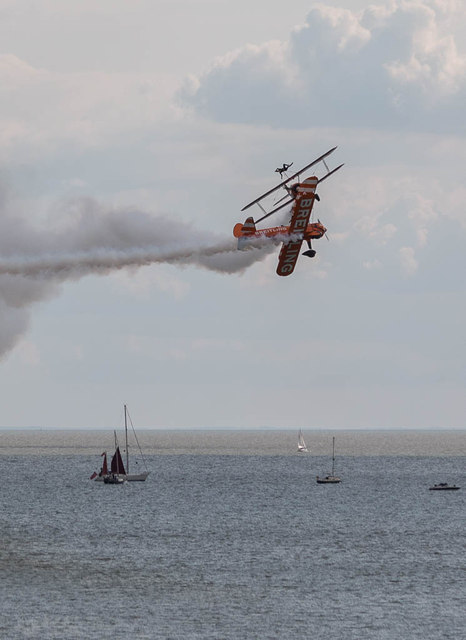 Breitling Wing Walkers Crossover, Clacton Air Show, Essex