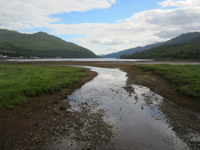 Loin Water enters Loch Long