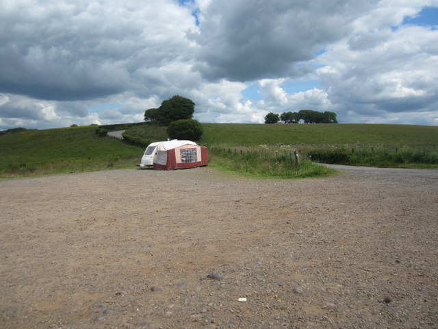 Campers in the car park